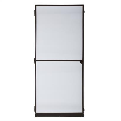 Fliegengitter Tür mit Alurahmen braun 95 x 210 cm