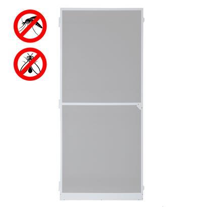 Fliegengitter Tür mit Alurahmen weiß 120 x 240 cm