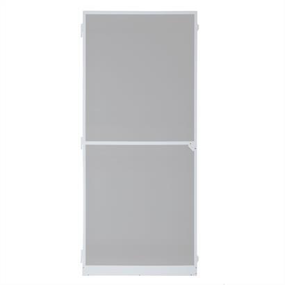 Fliegengitter für Türen, mit Alurahmen weiß 120 x 240 cm