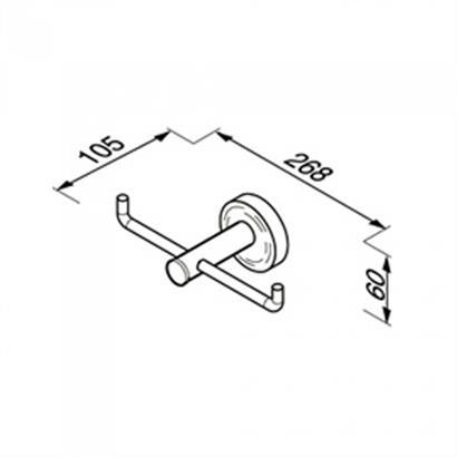 Toilettenpapierhalter Reserve doppel chrom GEESA Luna