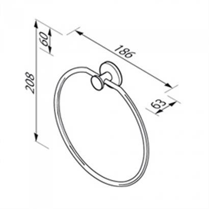 GEESA Circles Handtuchring chrom