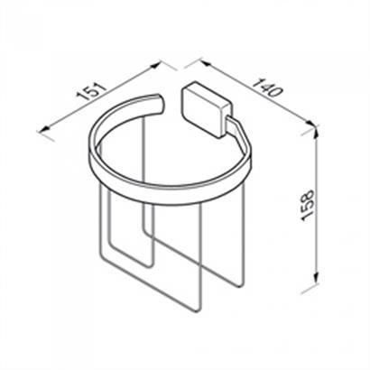 Toilettenpapierhalter Reserverollen doppelt GEESA BloQ