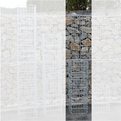 Gabionen-Säule eckig 30 x 30 cm 50/100/150/200 cm Höhe