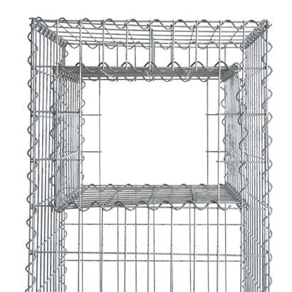 Steingabione Pflanzkasten Gabionenpfosten 50x50x150 cm Gabionenkorb Drahtgitter Säule