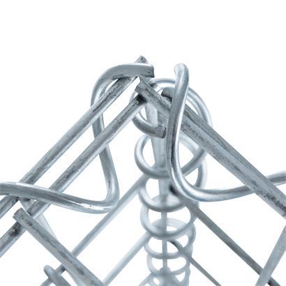 Anbauelement für Gabionenkorb Gabione 120x100 cm Spiral-Steingabionen Steinkorb
