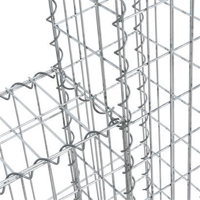 Anbauelement für Gabionenkorb Gabione 140x150 cm Spiral-Steingabionen Steinkorb