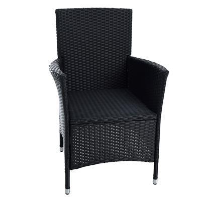 Rattan Gartensessel Polyrattan Stuhl Gartenstuhl 2er Set Garten Sessel Schwarz