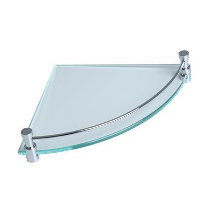 Eck Badablage Glas mit Chrom GEESA