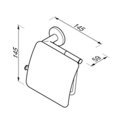GEESA Circles Toilettenpapierhalter chrom