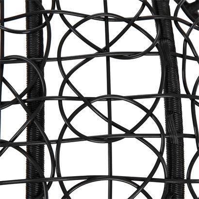 Polyrattan Hängesessel schwarz