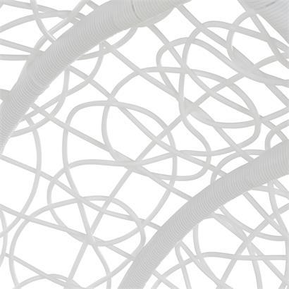 Polyrattan Hängesessel weiß