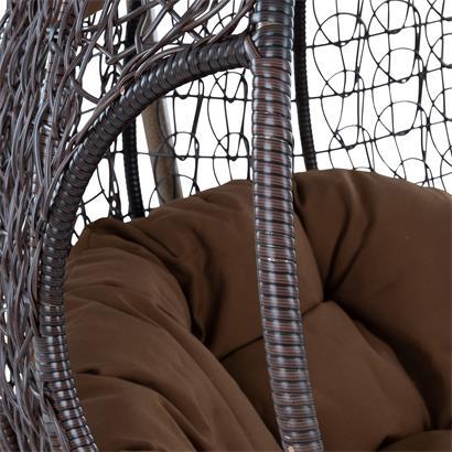 Polyrattan Hängesessel 2-Sitzer braun