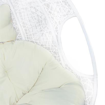 Polyrattan Hängesessel 2-Sitzer weiß