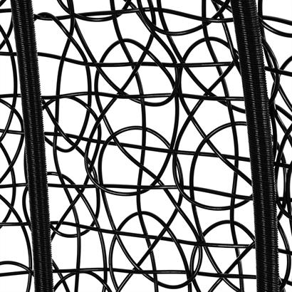 Polyrattan Hängesessel mit Gestell schwarz