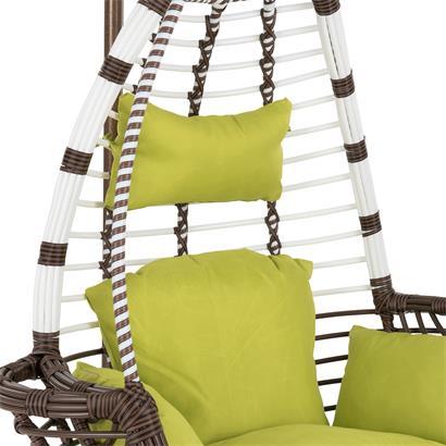 Polyrattan Hängesessel mit Gestell Stripes grün