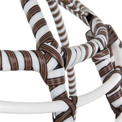 Polyrattan Hängesessel mit Gestell Stripes bunt