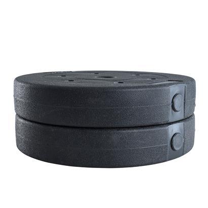 Hantelgewichte Hantelscheiben 2er Set 10,0 kg Kunststoff Gewichte Zementfüllung