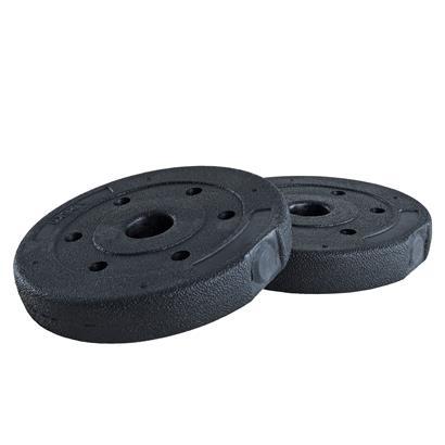 Hantelgewichte Hantelscheiben 2er Set 1,25 kg Kunststoff Gewichte Zementfüllung