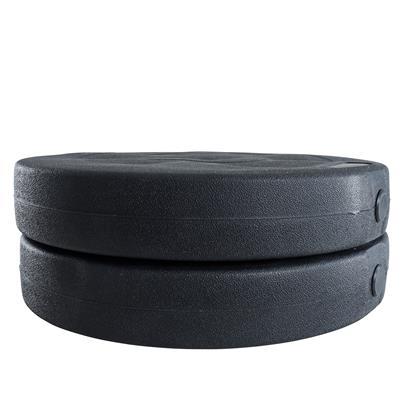 Hantelgewichte Hantelscheiben 2er Set 15,0 kg Kunststoff Gewichte Zementfüllung