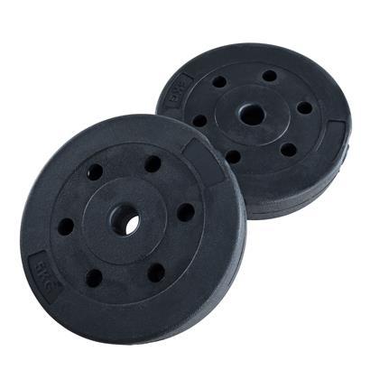 Hantelgewichte Hantelscheiben 2er Set 5,00 kg Kunststoff Gewichte Zementfüllung