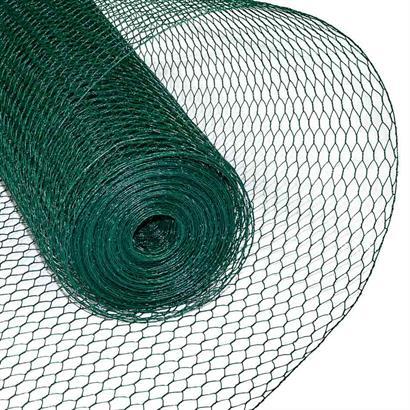 Sechseckgeflecht Volierendraht Hasendraht 0,75 x 25 m Drahtzaun Zaun grün 13 mm