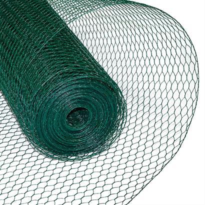 Sechseckgeflecht Drahtzaun grün 13 mm