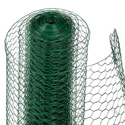 Sechseckgeflecht Volierendraht grün 25 mm Maschenweite 0,8 mm stark