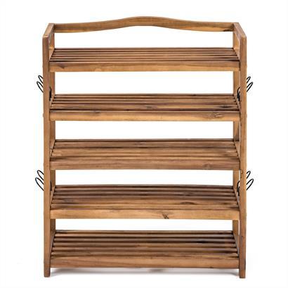 Schuhregal Holz 64 x 26 x 80 cm