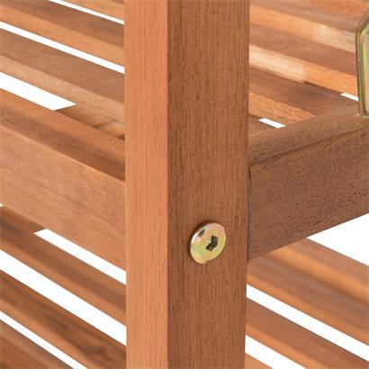 Akazienholz Schuhregal 80 x 30 x 90 cm