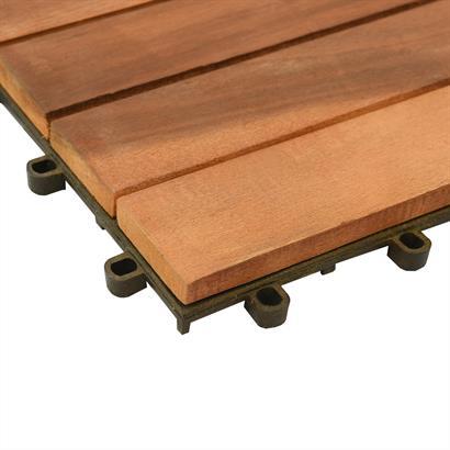 Holzfliesen 30 x 30 cm aus Akazienholz 1-3 m² Set Klicksystem