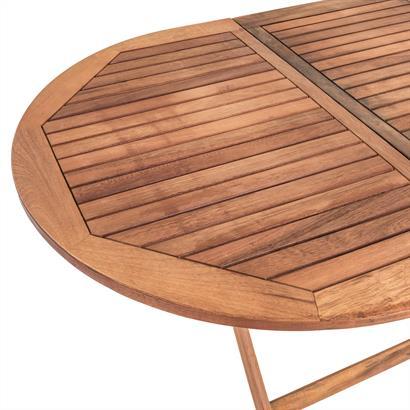 Holz Balkonmöbel Set klappbar, 7-teilig
