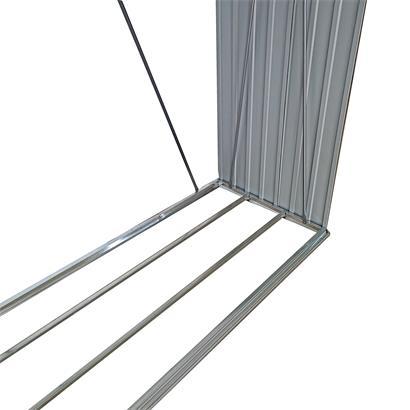 Brennholzunterstand Brennholz Holz Regal 329x91x154 cm Lager Unterstand Metall