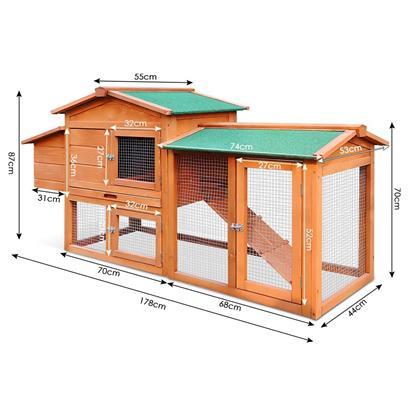 Hühnerstall Hühnerauslauf Geflügelstall 178x55x87 cm Geflügelauslauf Freigehege