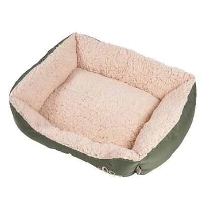 Hundebett Hundekissen Haustierbett Hundekorb Tierbett Hundesofa Olive/Beige