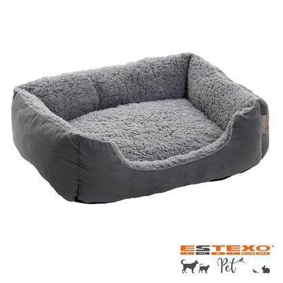 Hundebett Hundekissen Hundekorb Haustierbett Tierbett Hundesofa Dunkelgrau/Grau
