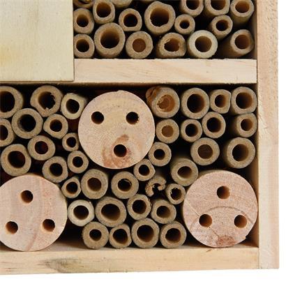 XXL Insektenhotel Insektenhaus 29,5x28,5x10 cm Nistkasten Brutkasten Bienen Insekten