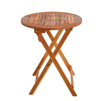 Balkontisch Klapptisch Holztisch Ø 60 cm Rund Gartentisch Tisch Akazienholz