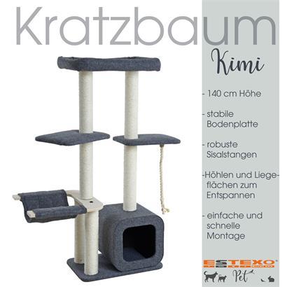 Kratzbaum Katzenbaum Katzenkratzbaum Kletterbaum Spielbaum für Katzen 140 cm XXL