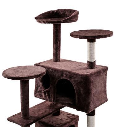 Kratzbaum Katzenbaum Katzenkratzbaum Kletterbaum Spielbaum für Katzen 130 cm XL