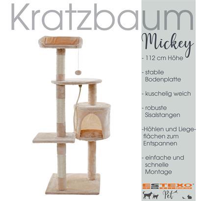 Kratzbaum Katzenbaum Katzenkratzbaum Kletterbaum Spielbaum für Katzen 112 cm XL