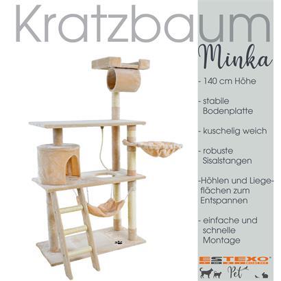 Kratzbaum Katzenbaum Katzenkratzbaum Kletterbaum Spielbaum für Katzen 140 cm XL