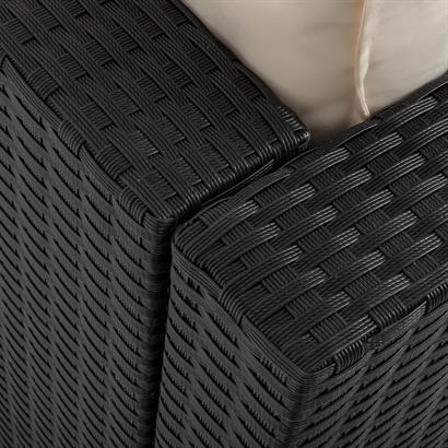 Estexo® Luxus Rattan Lounge schwarz