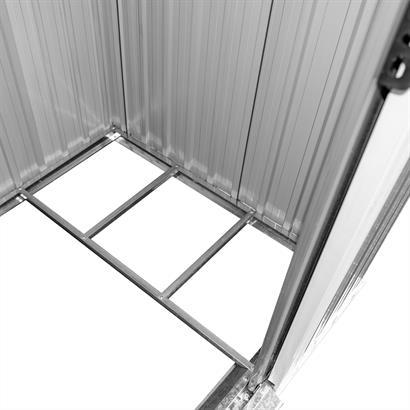 Geräteschuppen Metall verzinkt anthrazit Pultdach