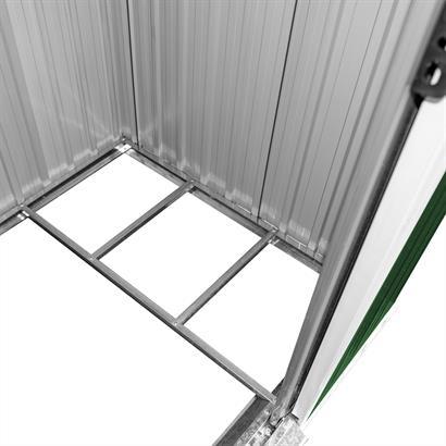 Geräteschuppen Metall verzinkt grün Pultdach