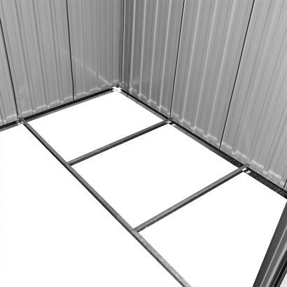 Geräteschuppen Metall grün Satteldach
