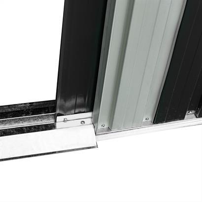 Geräteschuppen Metall anthrazit 257 x 205 x 178 cm Satteldach