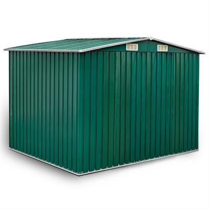 Geräteschuppen Metall grün 257 x 205 x 178 cm Giebeldach