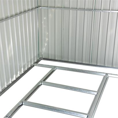 Geräteschuppen Gerätehaus Gartenhaus 257x312x192 cm grün Metall Blech Fundament