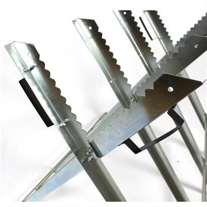 Sägebock Metall Brennholz Holzbock Holzsägebock klappbar Sägehilfe Kettensäge