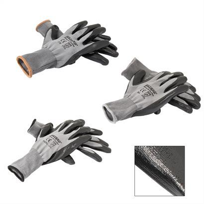 Montagehandschuhe Nitril grau 12er